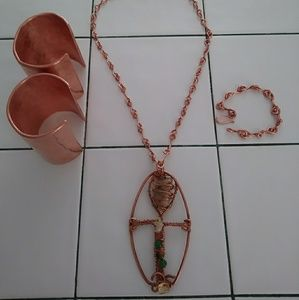 Other - Copper Handmade Jewelry Set